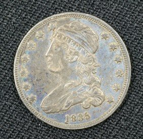 1835 Bust Quarter VF Nice Dark Original Surfaces