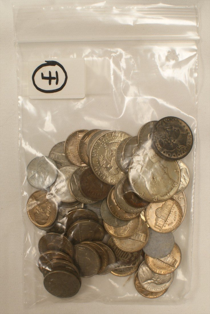 41: Odds + ends lot of about 55 coins including many 19
