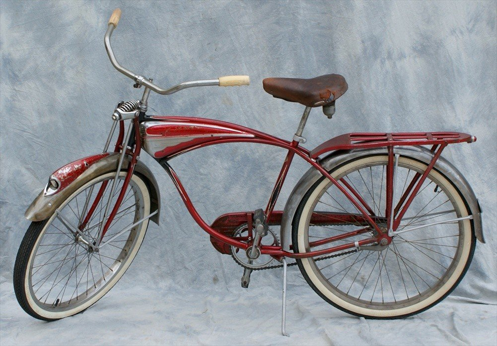133: Schwinn Red Phantom Bicycle, 1958, One fixed gear - 2