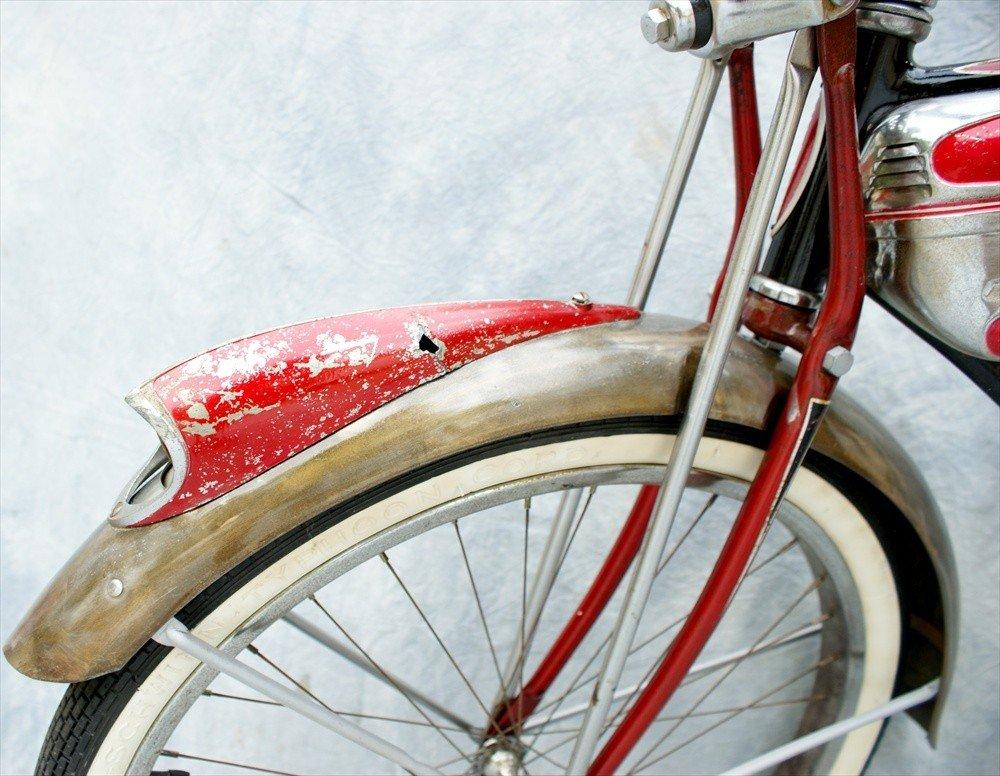 133: Schwinn Red Phantom Bicycle, 1958, One fixed gear - 4