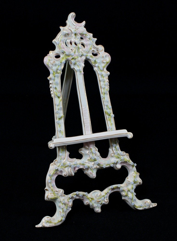 66: German Porcelain Easel, stamped Made in Germany and