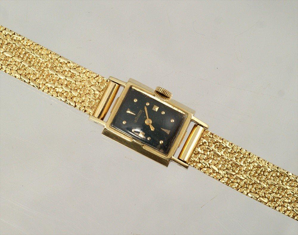 """14: 14K YG LeCoultre ladies bracelet watch, 6 7/8"""" long"""
