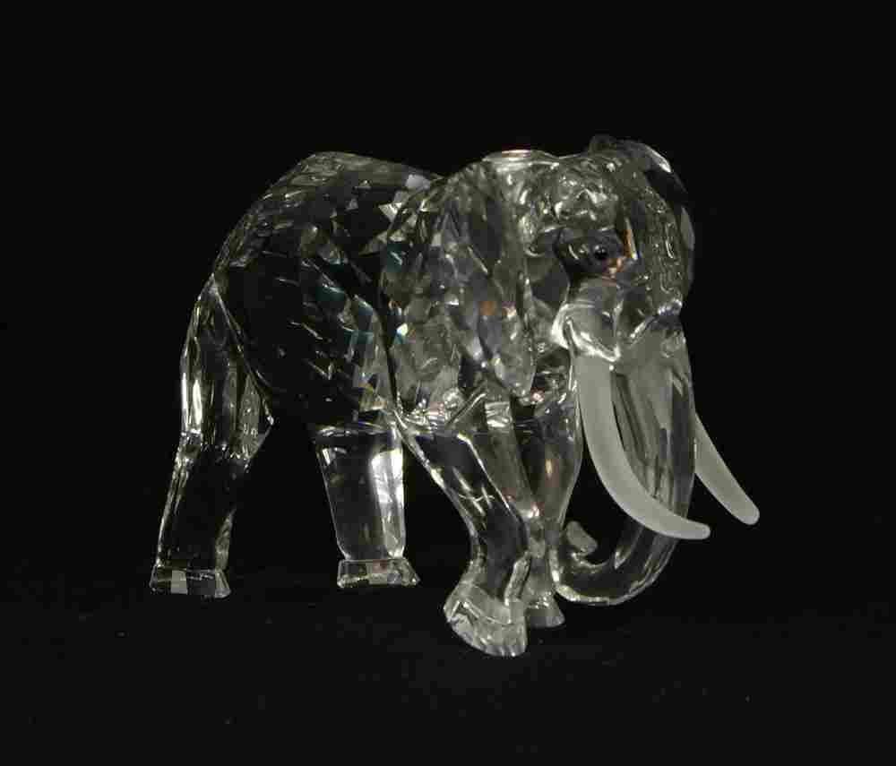 "197: Swarovski crystal elephant figurine, 3 1/2"" tall"
