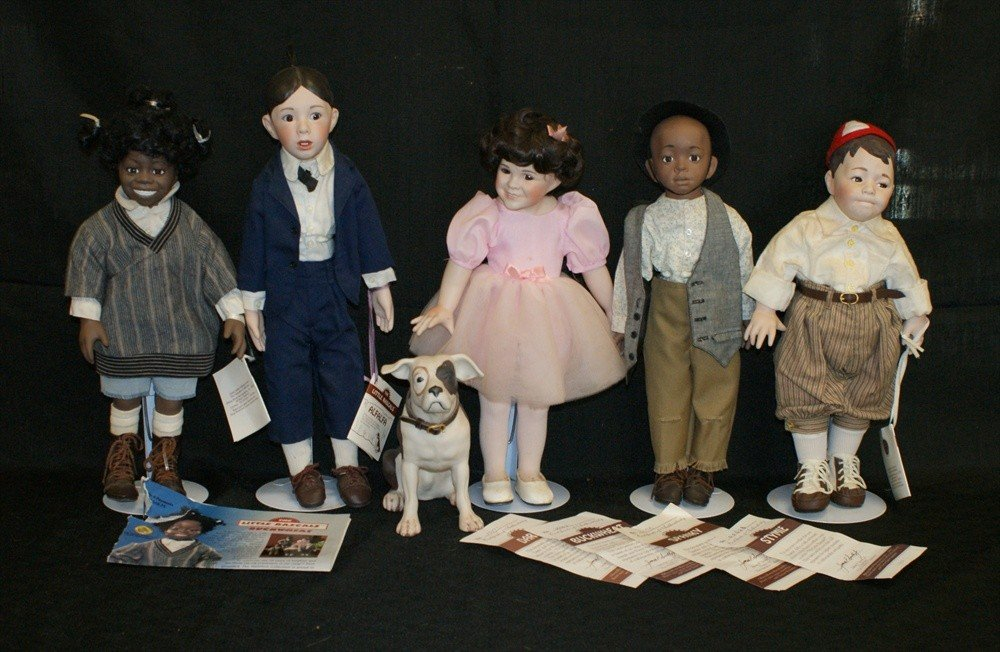 213: 6 Little Rascal dolls, Our Gang Collection.