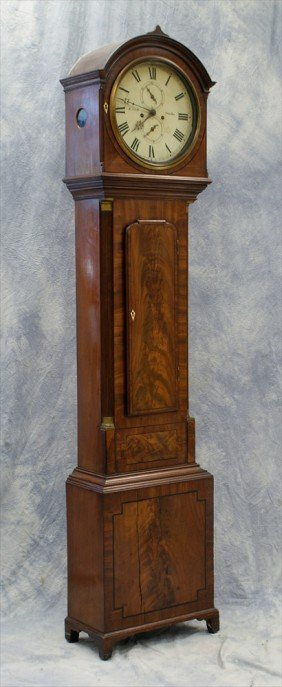 Inlaid Mahogany Scottish Tall Clock, W. Scott Of D