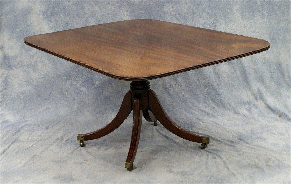 151: Regency  mahogany tilt top breakfast table, banded