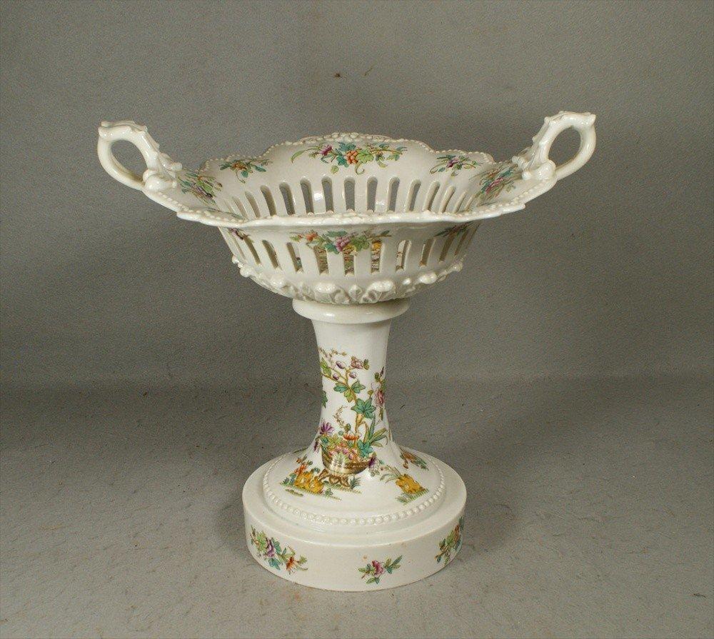 158: Indian Tree pattern compote, pierced bowl, open ha