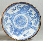 """10106: Japanese blue & white charger, circa 1900, 12"""" d"""