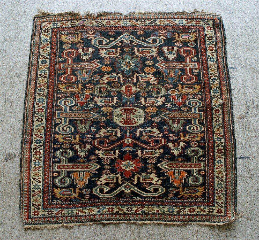 "11016: Antique Shirvan Perepedil rug, 2'11"" x 3'1"""