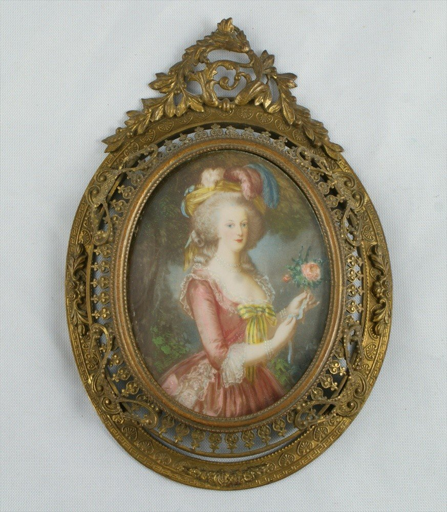 11175: (3) miniature portraits on ivory, Louis XVI and - 4