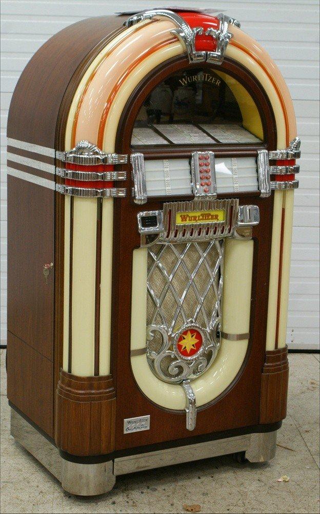 """11238A: Replica Wurlitzer 1015 """"Bubble Front"""" juke box,"""