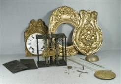 11255A French wag on the wall clock embossed brass di