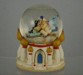 "Aladdin Musical Snow Globe, ""A Whole New World"","