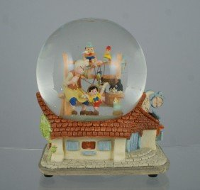 "Pinocchio Musical Snow Globe, ""When You Wish Upon"