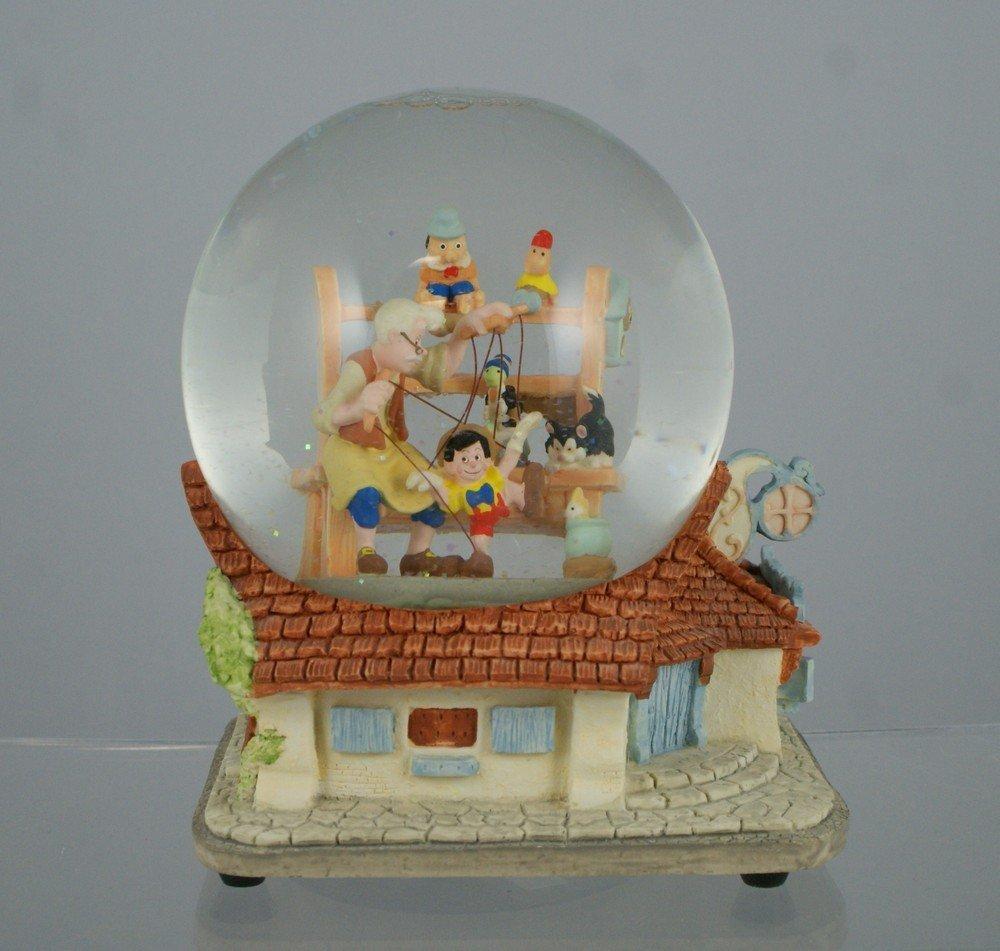 "1028: Pinocchio musical snow globe, ""When you Wish Upon"