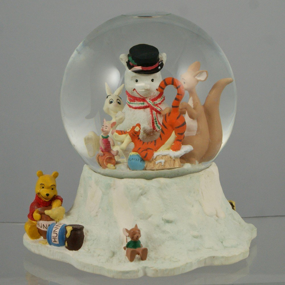 "1031: Winnie the Pooh musical snow globe, ""We Wish You"