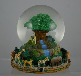 "Animal Kingdom Musical Snow Globe, ""Circle Of Lif"