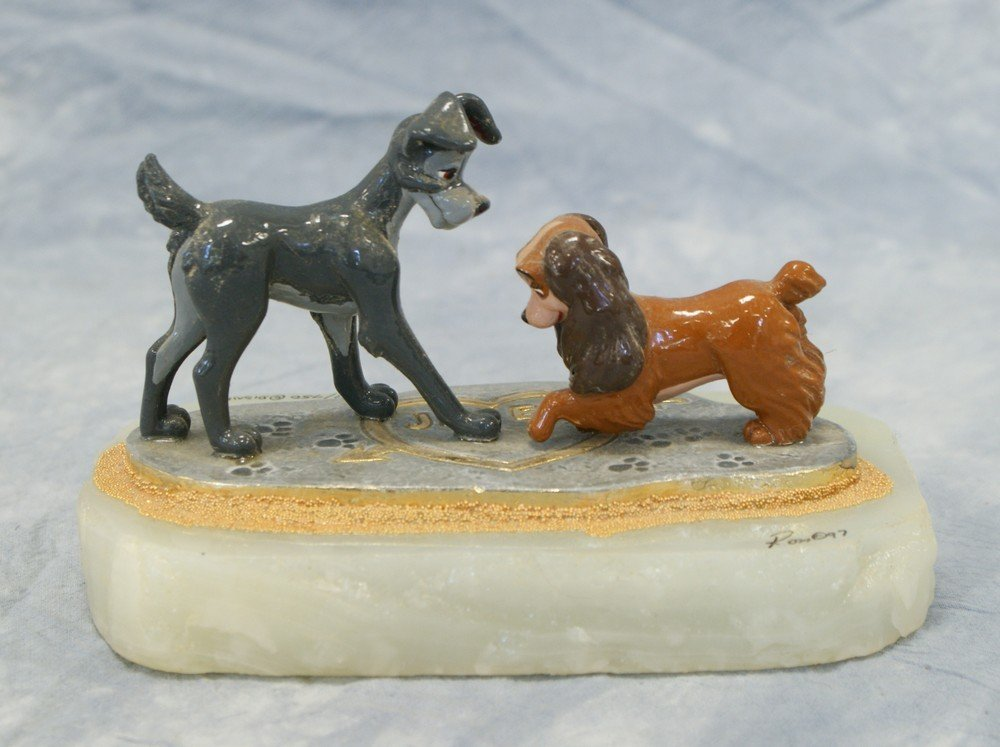 1118: Lady and the Tramp, Paw Prints, Ron Lee Sculpture