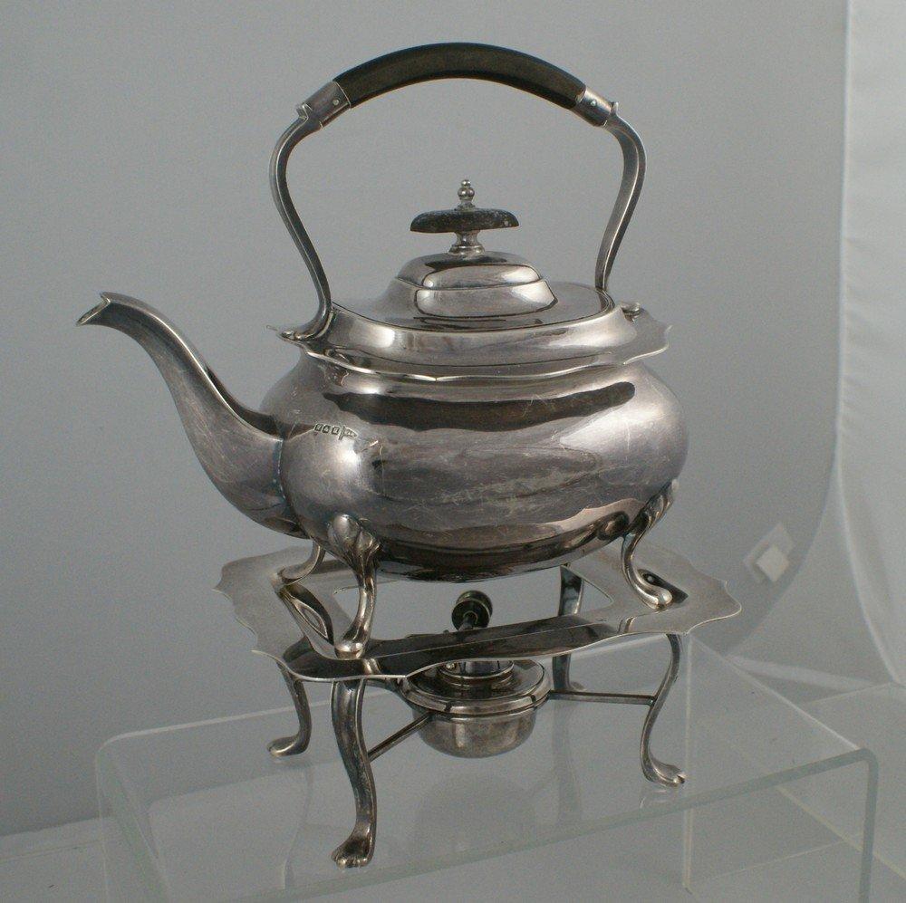 2026: Sheffield Walker & Hall plated silver tea kettle