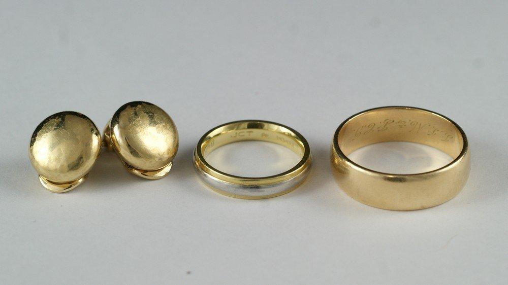 2078: 18K & platinum ladies wedding band, size 5 1/2, 3