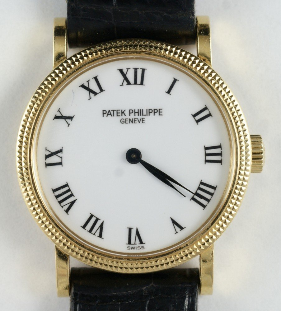 2098: 18K YG ladies Patek Philippe wrist watch, RF 4809