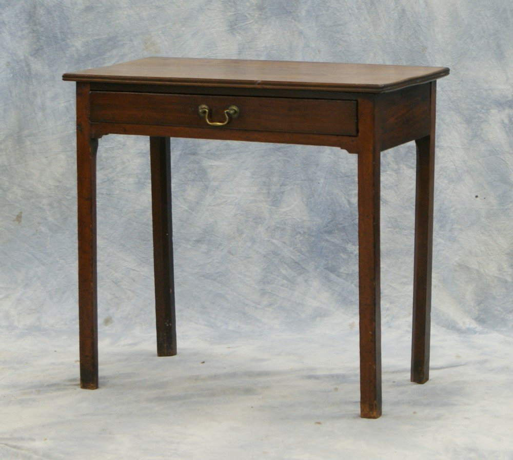 2185: Mahogany Georgian Side Table with drawer, origina