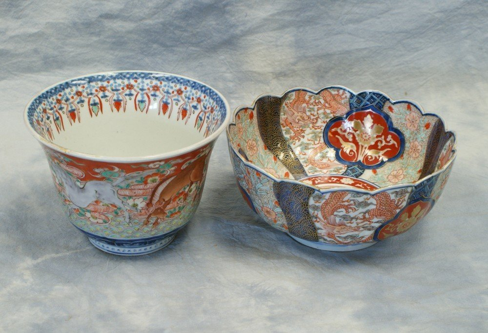2235: (2) Japanese Imari Porcelain bowls, including a f