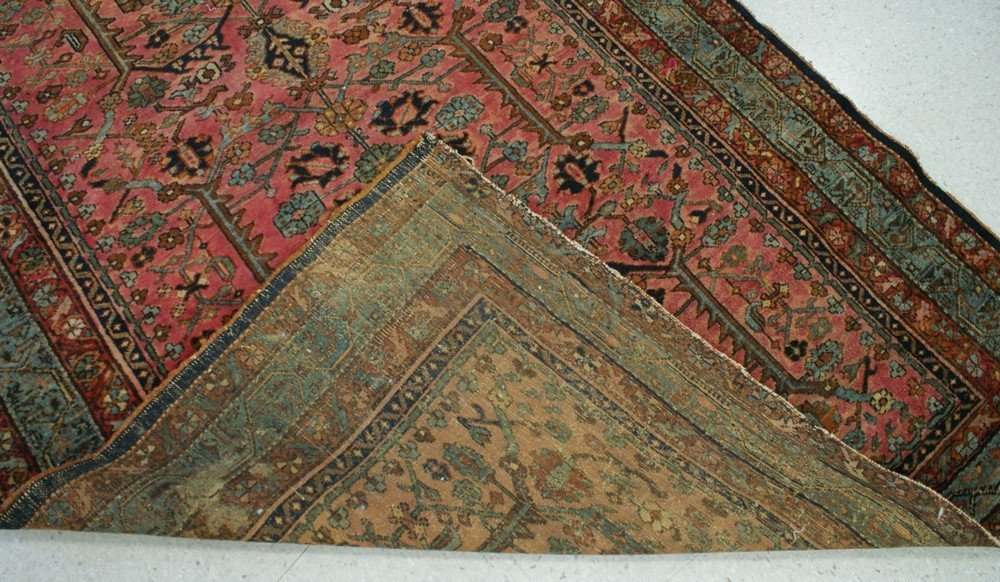 "2007: 4' 8 "" x 6' 7"" Hamadan rug (some loss at ends) - 2"