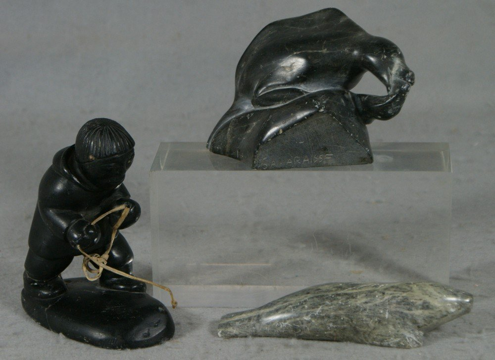 2237: (3) NW Native American stone carvings, Sakiriasie