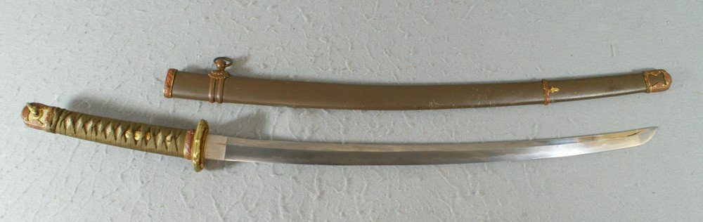 2240A: WWII Japanese Army Signed Shin Gunto Sword