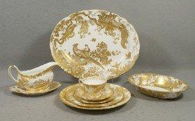 41 Pcs Royal Crown Derby Gold Aves Dinner Porcel