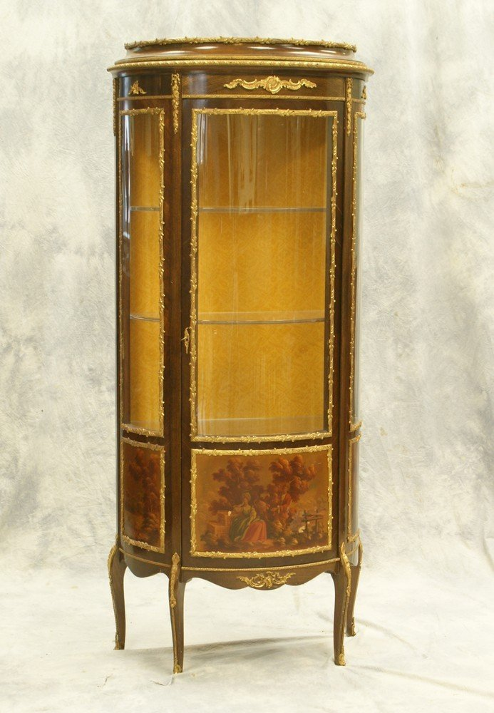 2311A: French Vernis Martin style curio cabinet, 20th c