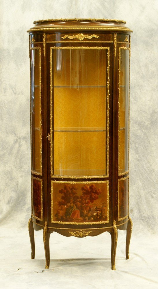 2311A: French Vernis Martin style curio cabinet, 20th c - 2