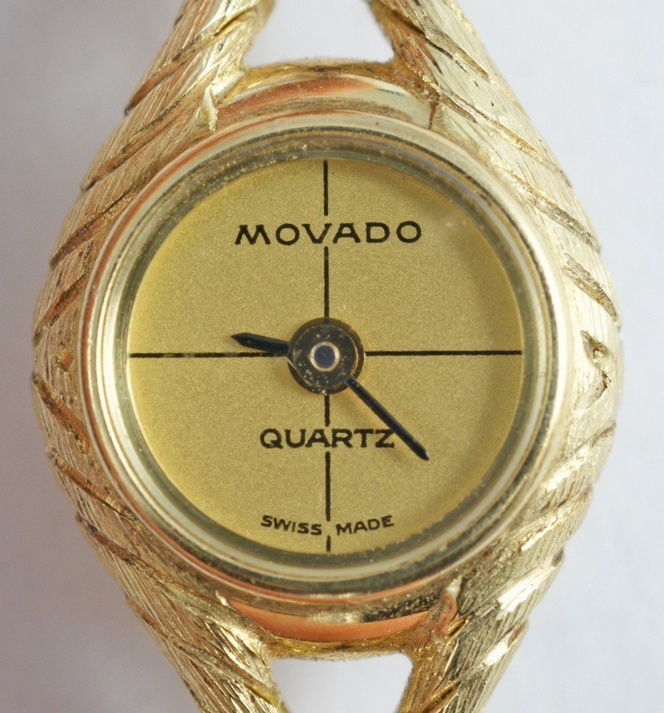 "2093D: 14K YG Movado ladies wrist watch, 1/2"" d, 6 3/4"" - 2"