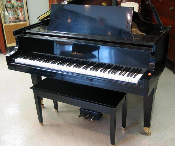 358: Black lacquer Baldwin Model R Grand Piano, serial