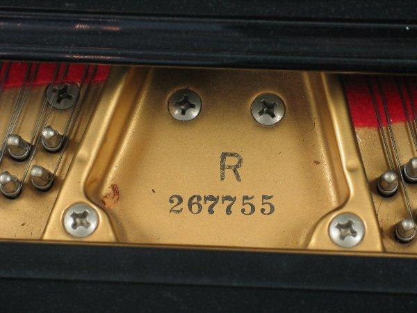 358: Black lacquer Baldwin Model R Grand Piano, serial  - 2
