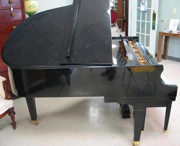 358: Black lacquer Baldwin Model R Grand Piano, serial  - 3