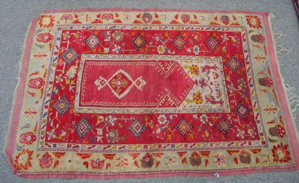 201: 4.0 x 5.10 Turkish prayer rug