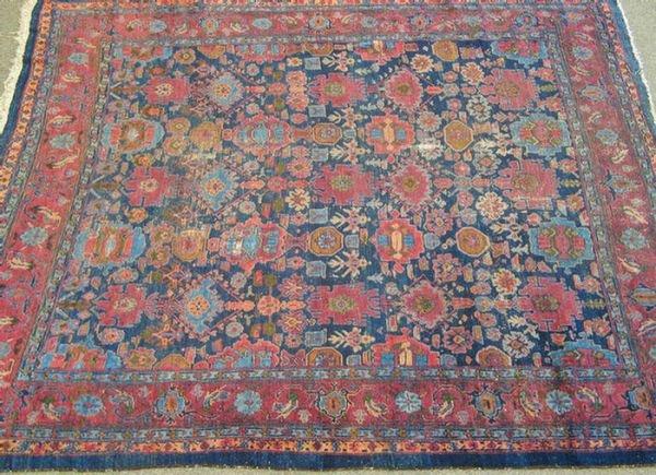 208: 9.7 x 10.6 blue Persian