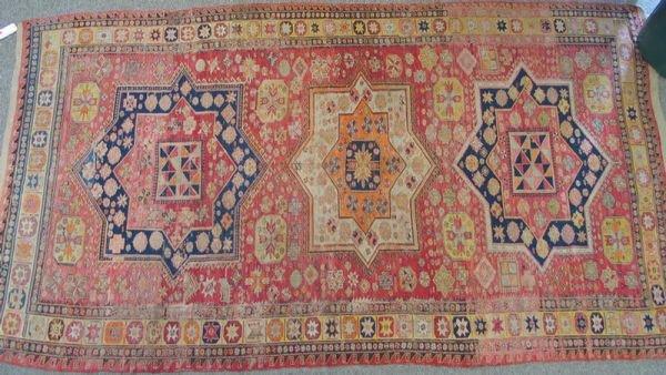 214: 6.8 x 12.5 Turkish flat weave carpet