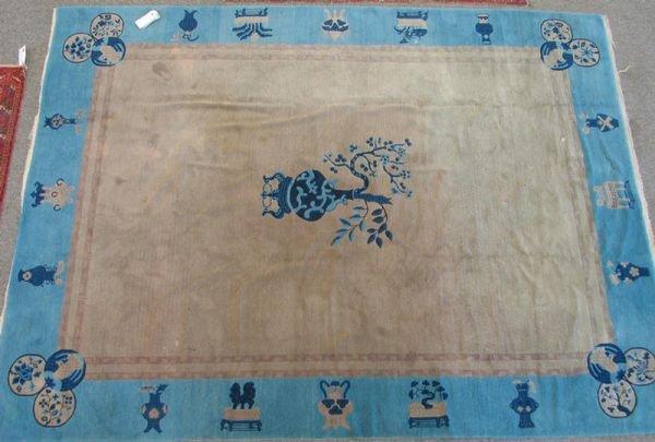 221: 9.1 x 11.11 Chinese rug