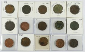 15 Different Large Cents Generally AG/G 1827, 183