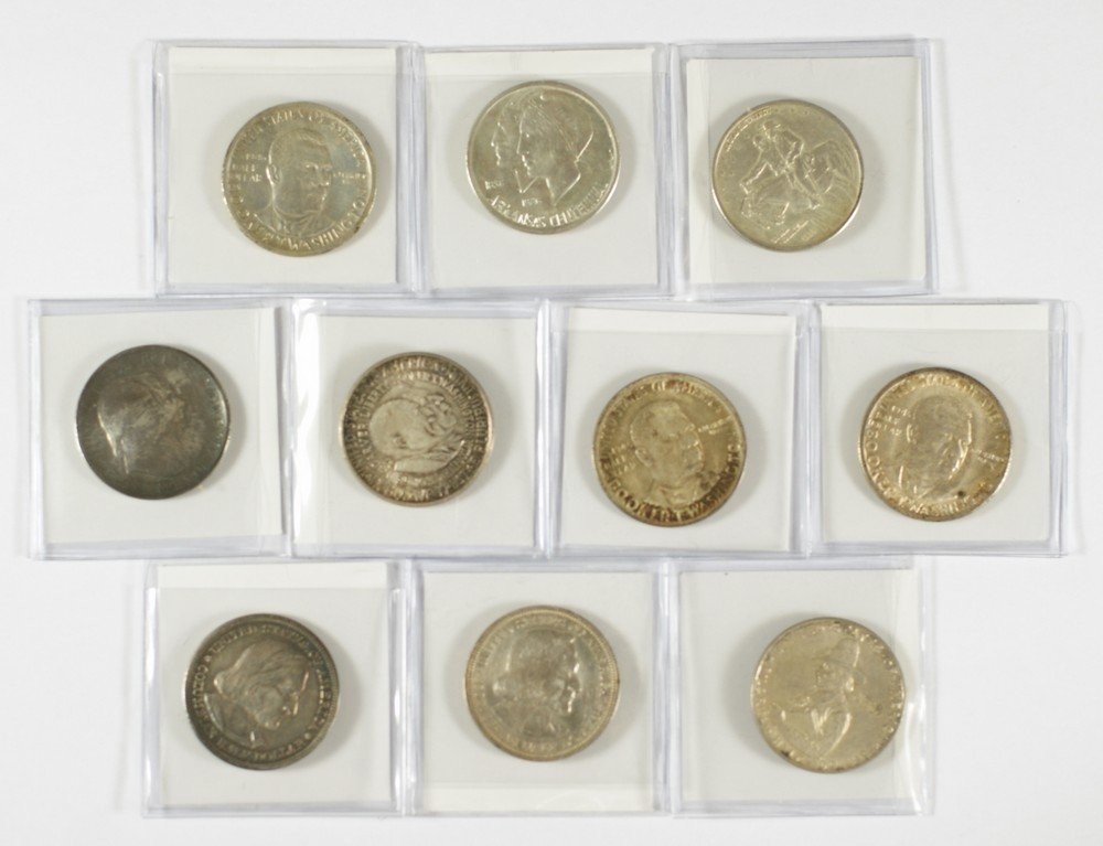 5049: 10 different commemorative halves generally VF/AU