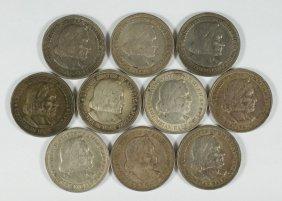 Lot Of (10) 1983 Columbian Halves VF/EF