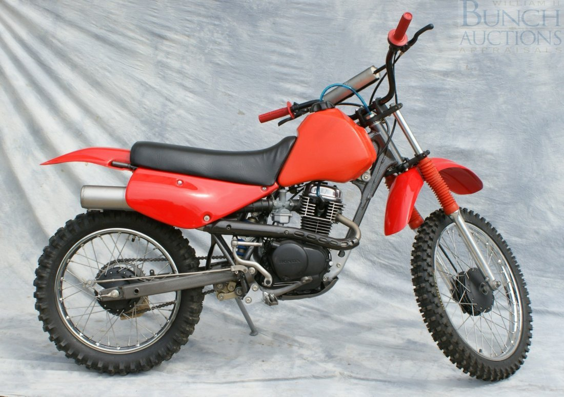 1: Honda XR100, rebuilt engine and cosmetics, runs exce