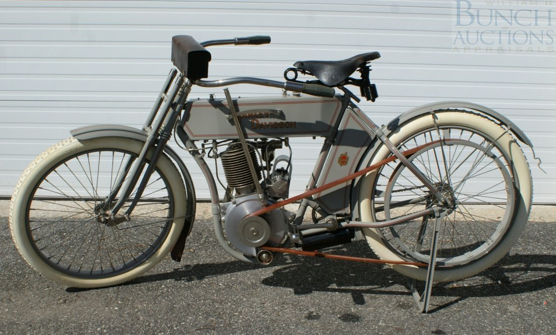 67: 1910 Harley-D Model 6A, This was the bike, a simple - 2