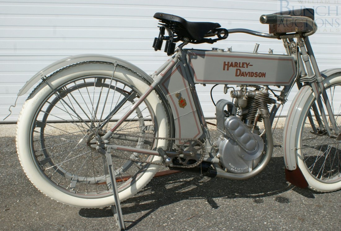 67: 1910 Harley-D Model 6A, This was the bike, a simple - 6