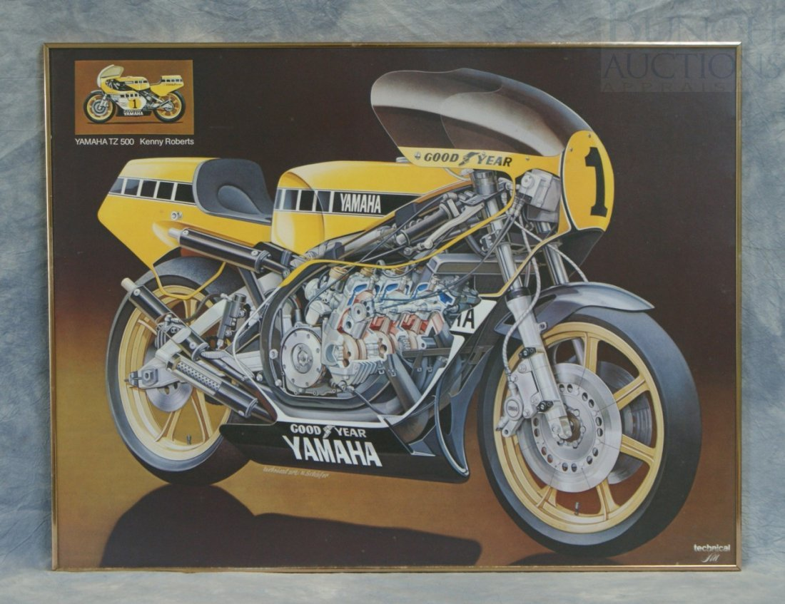 2: Yamaha TZ500 Kenny Roberts poster by Technical Art,