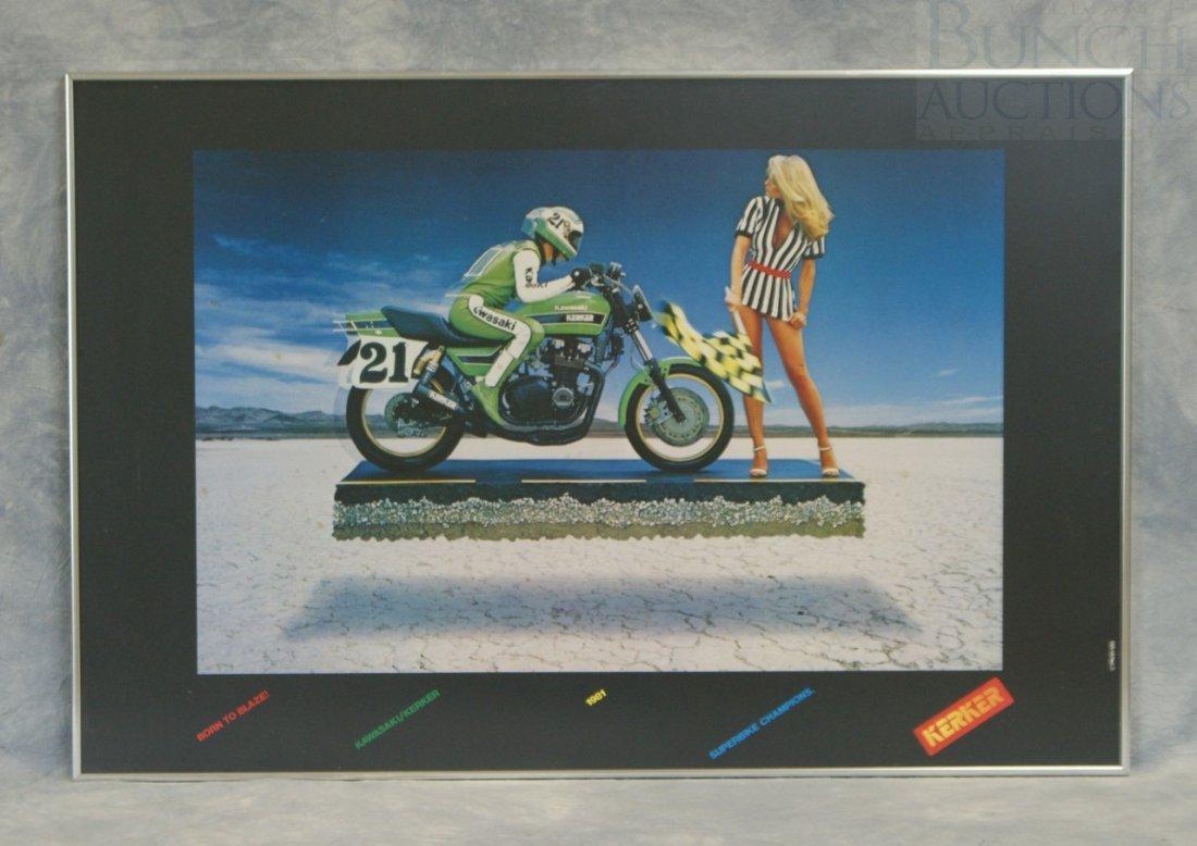 "3: Kawasaki poster by Kerker, 24"" x 36"""