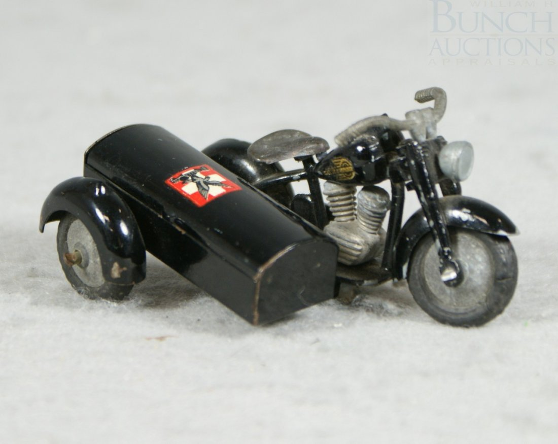 3A: Tekno Motorcycle sidecar toy, circa 1930's, from De - 2